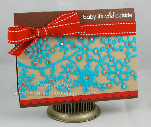 Baby its cold outside card - dawn