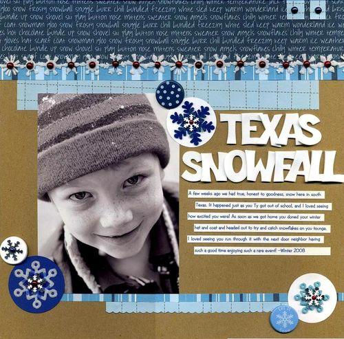 Texas Snowfall