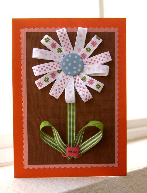 Ribbon Flower Card