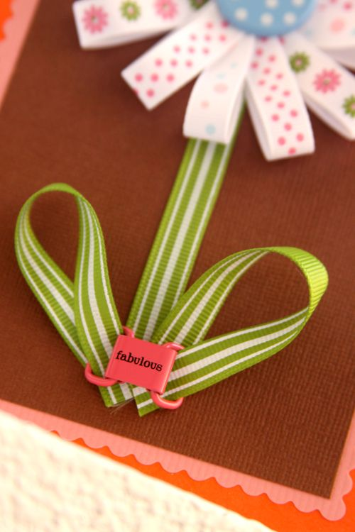 Ribbon Flower Card Macro