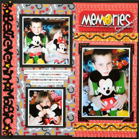 Memories Layout by Vicki Boutin