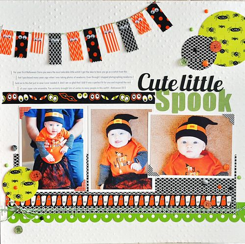 Ginger williams Halloween Layout Queen & Co Summer 2013
