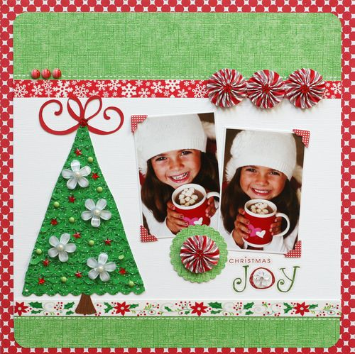 Greta hammond Christmas Joy layout 1