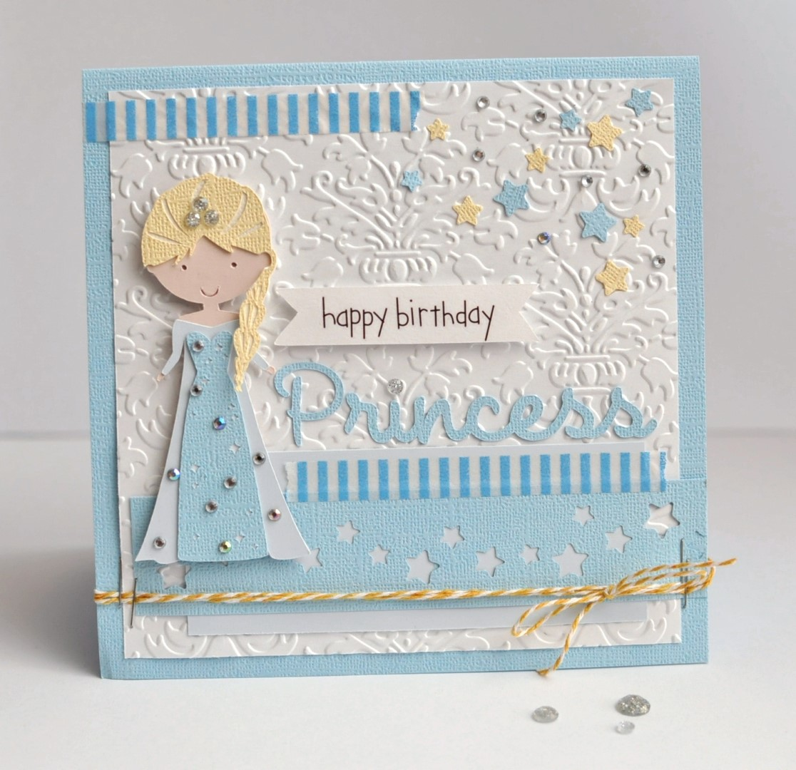 How to scrapbook birthday cards - Happy Birthday Princess By Ginger Williams For Queen And Company
