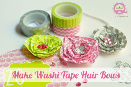Washi Hair Bows (Large)