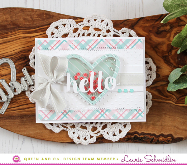 Hello Shaker Card by Laurie Schmidlin