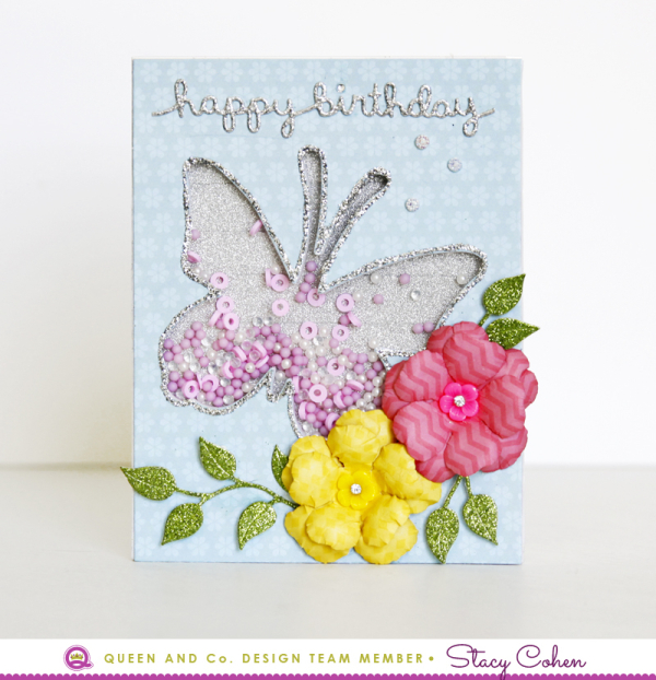 Queen card butterfly Stacy Cohen