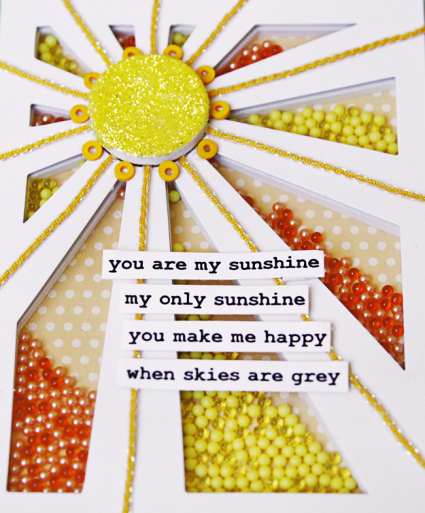 Queen card sunshine close-up