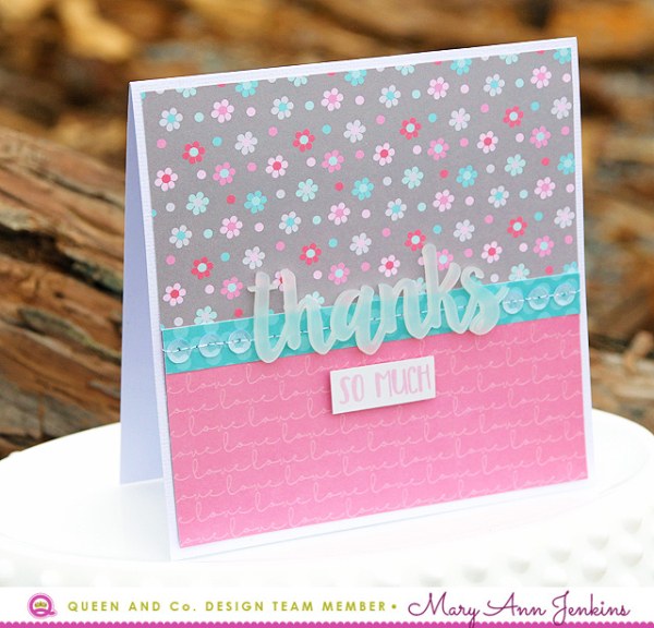 Mary Ann Jenkins - Thanks So Much Card - 1